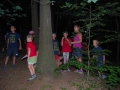Večer, když už byl chladek, jsme v lese pomahali Čtyřllístku